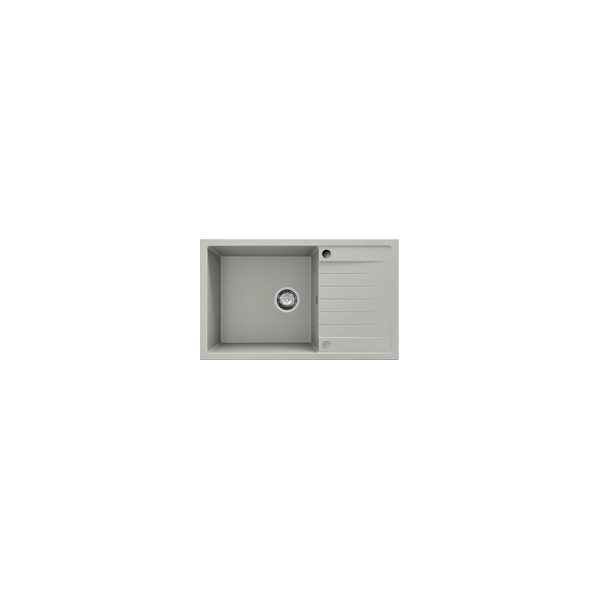 Chiuveta cu blat dreapta/stanga gri deschis 80 cm/49 cm (228)