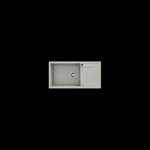 Chiuveta cu blat dreapta/stanga bej deschis 95 cm/49 cm (230)