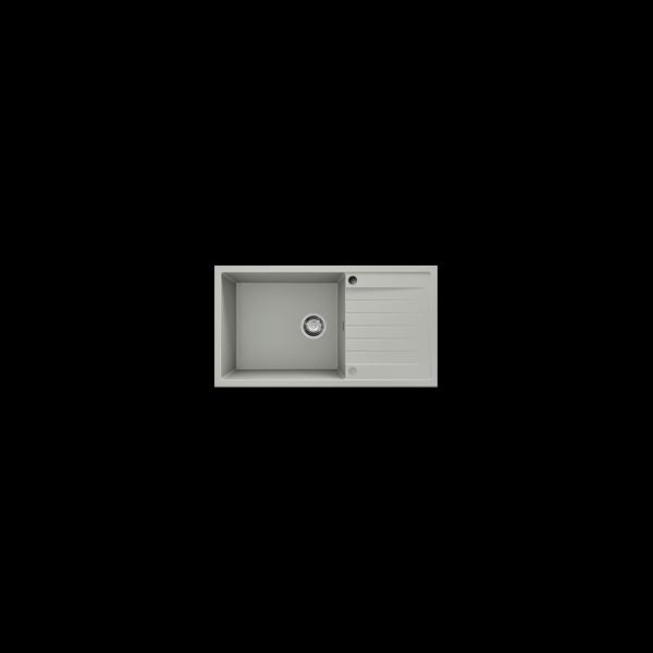 Chiuveta cu blat dreapta/stanga gri metalic 90 cm/49 cm (229)