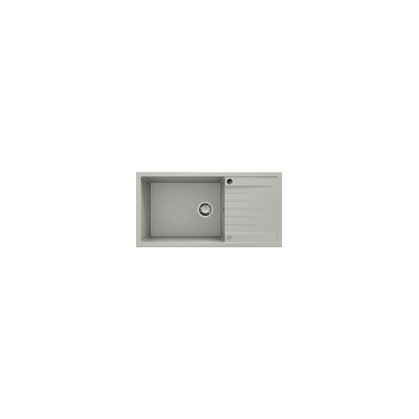 Chiuveta cu blat dreapta/stanga gri metalic 95 cm/49 cm (230)