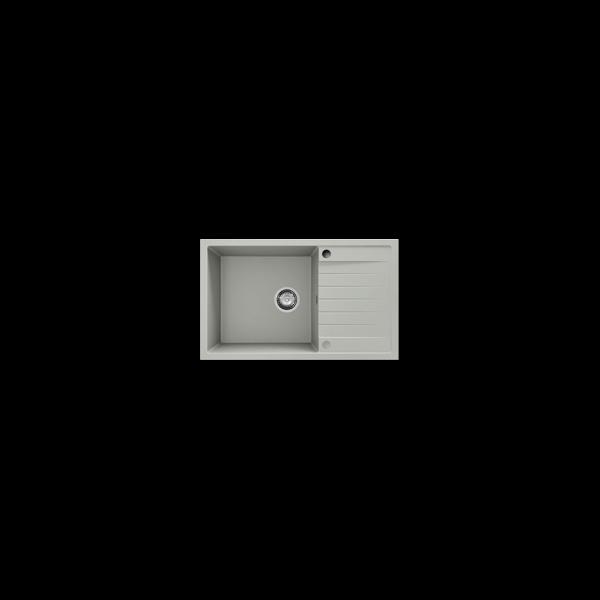 Chiuveta cu blat dreapta/stanga negru metalic 80 cm/49 cm (228)