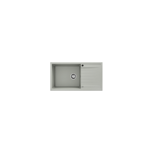 Chiuveta cu blat dreapta/stanga negru metalic 90 cm/49 cm (229)