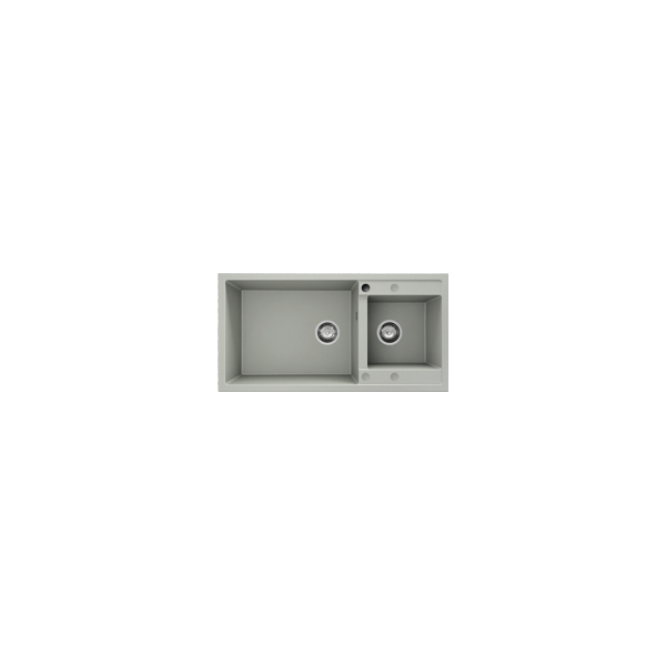 Chiuveta cu doua cuve bej inchis 95 cm/49 cm (235)