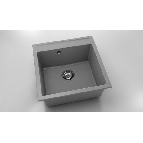 Chiuveta cu o cuva gri metalic 51 cm/51 cm (225)