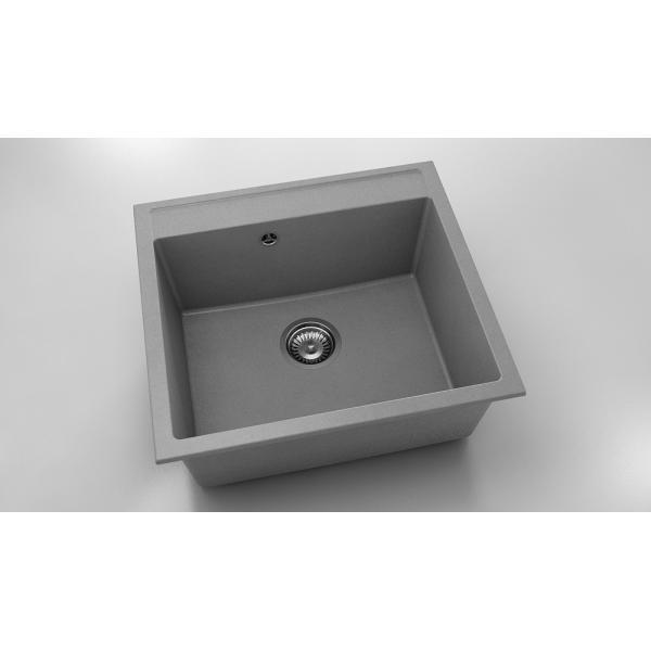Chiuveta cu o cuva gri metalic 56 cm/51 cm (226)