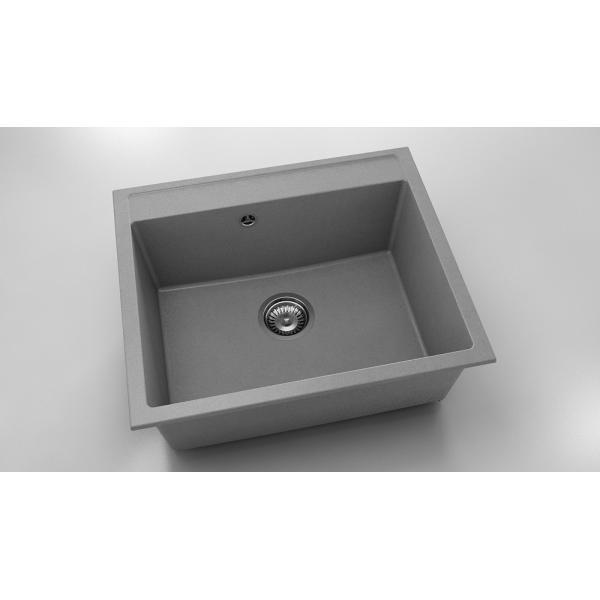 Chiuveta cu o cuva gri metalic 60 cm/51 cm (227)