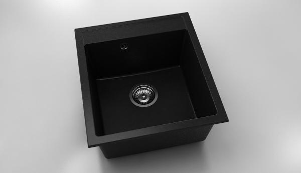 Chiuveta cu o cuva negru metalic 46 cm/51 cm (224)