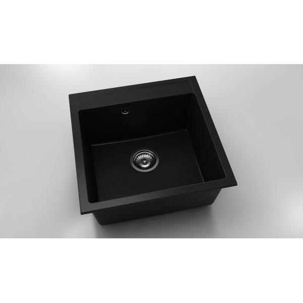 Chiuveta cu o cuva negru metalic 51 cm/51 cm (225)