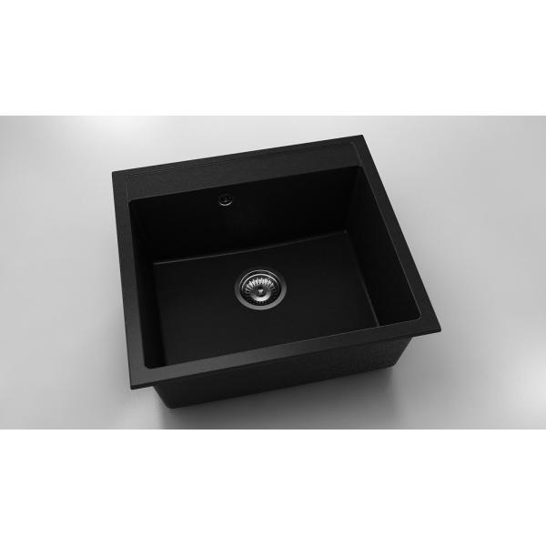 Chiuveta cu o cuva negru metalic 56 cm/51 cm (226)