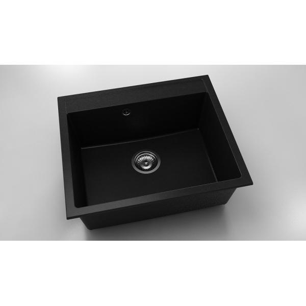 Chiuveta cu o cuva negru metalic 60 cm/ 51 cm (227)