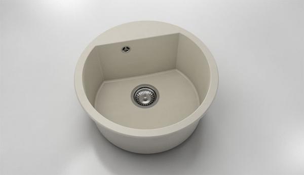 Chiuveta rotunda bej Ø 51 cm (223)