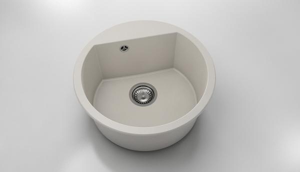 Chiuveta rotunda bej deschis Ø 51 cm (223)