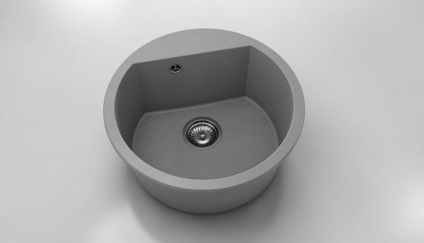 Chiuveta rotunda gri metalic Ø 51 cm (223)