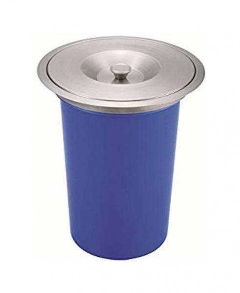 Cos pentru reciclare 8 litri  cu capac de inox incastrabil in blat