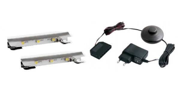 LED 2 pentru polita sticla clip metalic