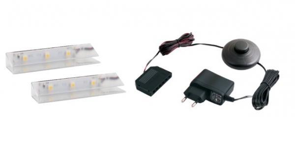 LED 2 pentru polita sticla clip plastic