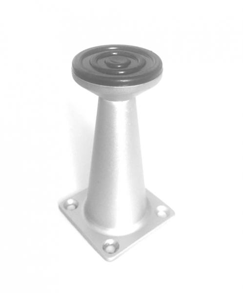 Picior metalic pentru mobilier H:80 mm finisaj aluminiu