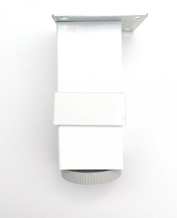 Picior reglabil pentru mobilier H100 finisaj alb