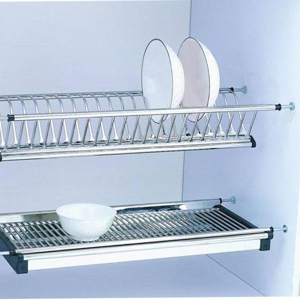 Scurgator din otel inoxidabil pentru vase montabil in dulap de bucatarie cu dimensiune de 700 mm