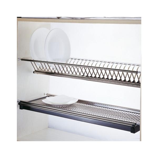 Scurgator din otel inoxidabil pentru vase montabil in dulap de bucatarie cu dimensiune de 900 mm