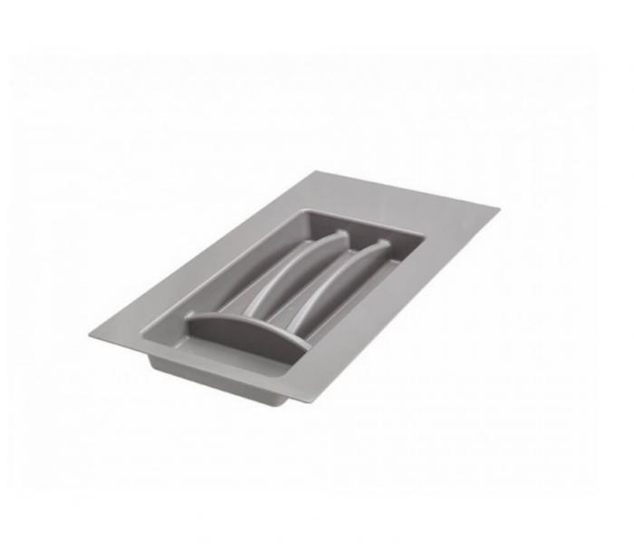 Suport organizare tacamuri,gri aluminiu, pentru latime corp 300 mm, montabil in sertar bucatarie