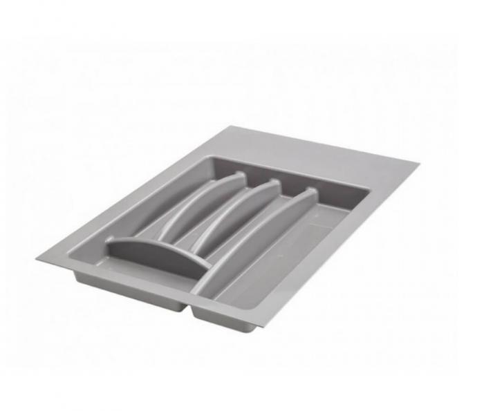 Suport organizare tacamuri, gri aluminiu, pentru latime corp 450 mm, montabil in sertar bucatarie