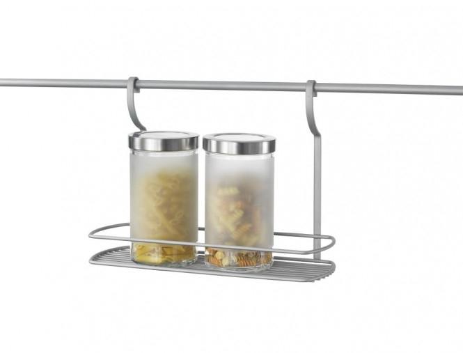 Suport suspendat cu bara suport inclusa pentru recipiente si accesorii bucatarie 1