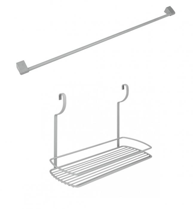 Suport suspendat cu bara suport inclusa pentru recipiente si accesorii bucatarie 2